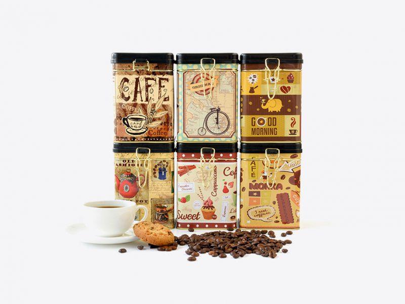 opakowania ozdobne do przechowywania kawy