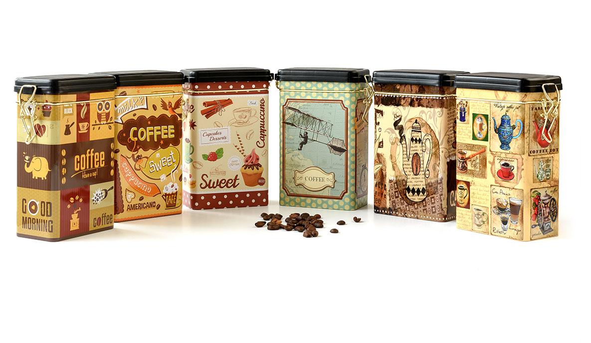 metalowe opakowanie na kawę