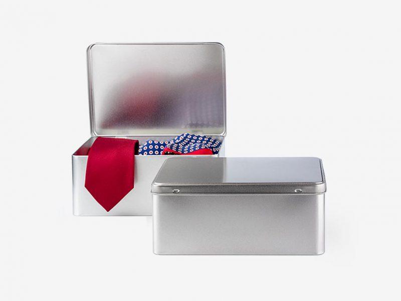 stalowe pudełka prostokątne