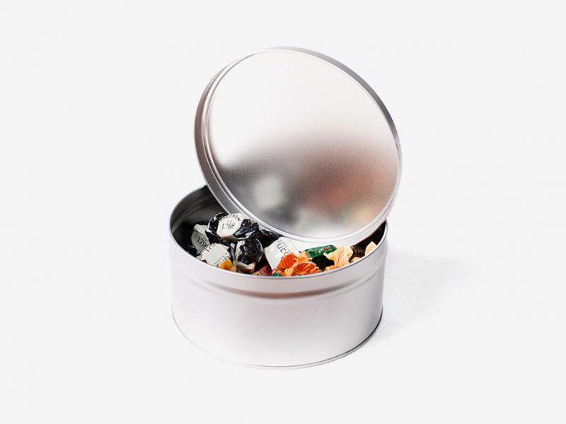stalowe pudełka okrągłe