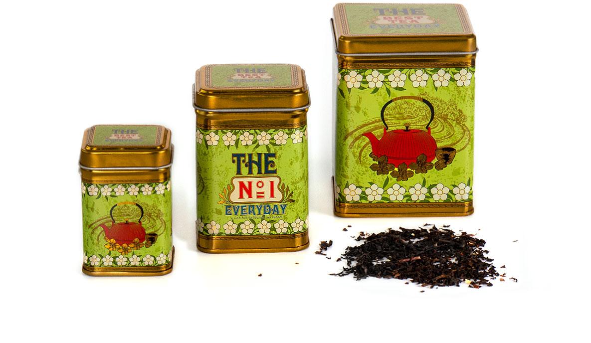 metalowe opakowanie na herbatę