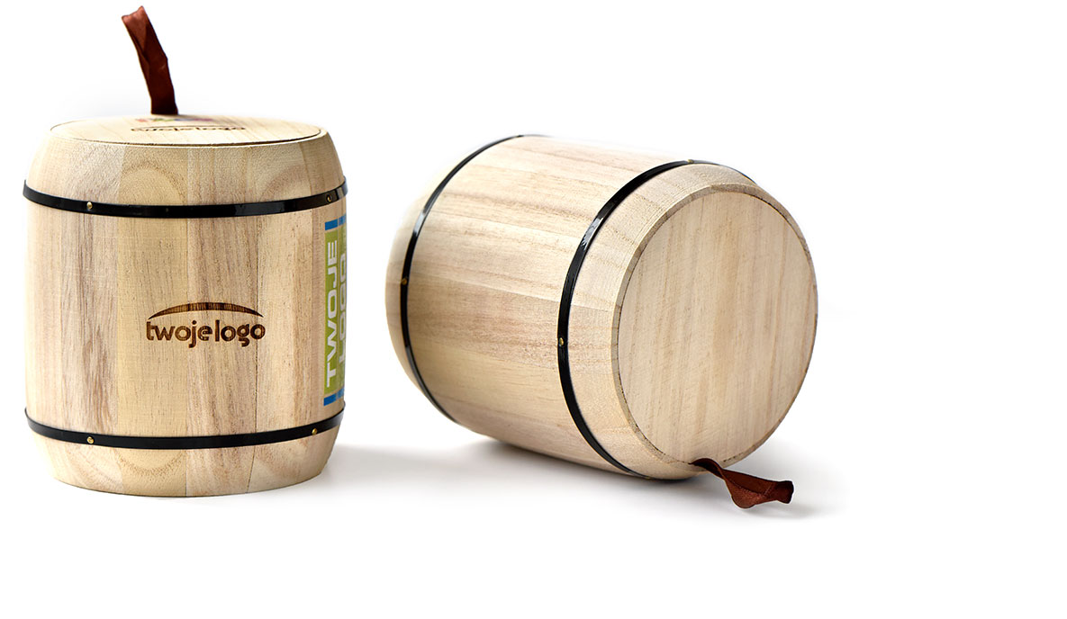 drewniane puszki